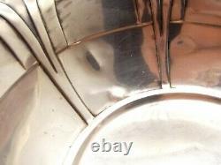 Antique Alvin Sterling Argent 9 Bol D1525 Art Déco Servir Fruit Vtg Géométrie