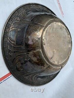 Antique Alvin Sterling Argent 9in Art Deco Bowl -7,5 Oz Sterling
