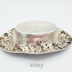 Antique Alvin Sterling Art Nouveau Floral 7 3/8 Vaisselle