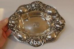 Antique Alvin Sterling Silver Art Nouveau Bowl Modèle Numéro 1135