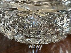Antique American Brilliant Crystal Bon Bon Pot À Bonbons Argent Sterling Alvin Couvercle