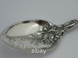 Antique Art Nouveau Ère Alvin Co 1907 Sterling Silver Spoon Bridal Rose Monogram