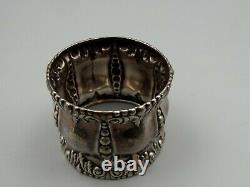 Antique Sterling Silver Alvin Round Napkin Ring No. 2209 Vtg Repousse No Mono