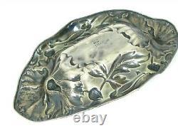 Antique Sterling Silver Art Nouveau Repousse Alvin 1118 Bowl 86.5g M305