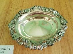 Antique Vintage Alvin Sterling Silver Art Nouveau Pansies Bowl No Monogram