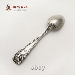 Art Nouveau Figural Floral Demitasse Spoon Alvin Sterling Silver Mono S
