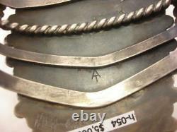 At Alvin Thompson Navajo Mediterranean Coral Oxblood Bracelet Sterling Silver