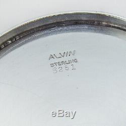 Bécher Julep Coupe Fasciée Alvin Jantes En Argent Sterling 1950 No Mono