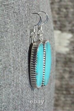 Boucles D'oreilles Turquoise & Argent Sterling Alvin Joe