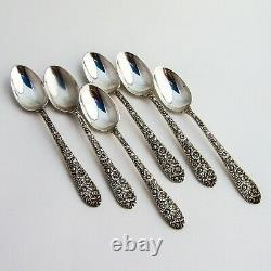 Bouquet Nuptial 6 Demitasse Spoons Set Alvin Sterling Argent 1932
