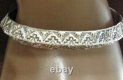 Bracelet De Manchette Sterling Silver Alvin Toadacheene