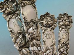 Bridal Rose By Alvin Sterling Silver Flatware Set Service 98 Pièces Taille Du Dîner