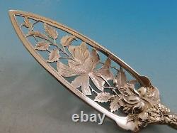 Bridal Rose Par Alvin En Argent Sterling Jelly Gâteau 9 1/8 Serveur Pierced Floral