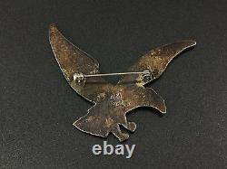 Broche Alvin Monte Vintage Native Sterling Silver Eagle Sandcast Pin