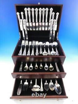 Cambridge By Gorham Alvin Sterling Silver Flatware Service Pour 8 Set 106 Pièces