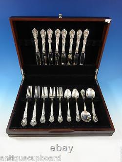 Chateau Rose Par Alvin Sterling Silver Flatware Set For 8 Service 40 Pieces