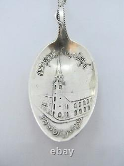 Collectible Alvin Sterling Silver Boston Massachusetts Souvenir Spoon (#1363)