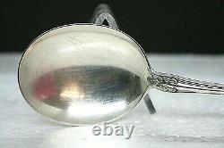 Ensemble De 5 Alving Sterling Silver Round Potp Spoon (soupe À La Crème) Château Rose