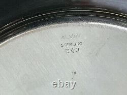 Ensemble De 9 Alvin Sterling Silver (. 68kg) Pain Et Beurre 6 Assiettes Marquées E49