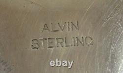 Ensemble De Commode En Argent Sterling Alvin 5pc Fancy Gravé (#1381)