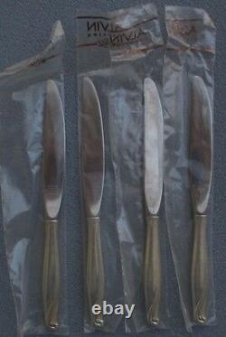 Ensemble De Quatre Gorham Alvin Sterling Silver Spring Bud Dinner Knives New In Sleeves