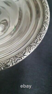 Ferling Silver Foted Candy Bowl 5 3/4 D'alvin S125 Cement Feigh Base 7.4oz