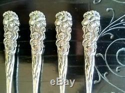 Lot De 6 Raphael Par Alvin Argent Sterling Cocktail Forks Art Nouveau Lily Maiden