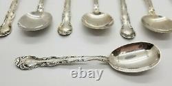 Lot De 9 Spoons De Soupe Rondes Sterling Pattern Français Par Alvin (1953)