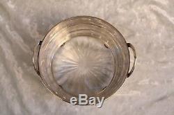 Magnifique 1900 Alvin Sterling Silver Bowl Avec Verre Must See