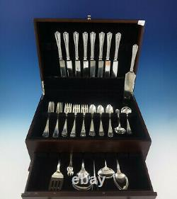 Maryland Hand Hammered By Alvin Sterling Silver Flatware Set Service 47 Pièces