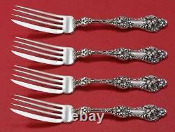 Old Orange Blossom Par Alvin / Gorham Sterling Silver Fish Fork Set As Custom