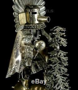 Old Pawn Vintage Alvin Vandever 8 En Argent Sterling À La Main Kachina Sculpture