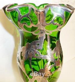 Overlay Antique En Argent Très Grand Vase, Alvin, Gorham