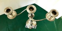 Paire Alvin Sterling-silver-candle Stick Holder Candelabras 4 Sections