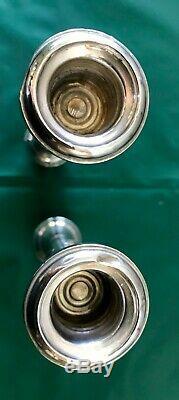 Paire Alvin-argent Sterling-bougie Bâton Holder Sections Candélabres 4