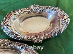 Paire American Sterling Silver Vintage Dishes Alvin Manufacturing Company