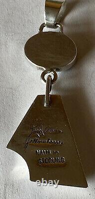 Pendentif Signé Navajo Alvin Yellowhorse Sterling Silver Inlay