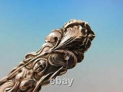 Raphaël Par Alvin Sterling Silver Pea Spoon 9 Floral Figural Femme Pierced Bowl