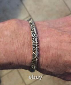 Signé 925 Vintage Alvin Todacheene Navajo Main Bracelet
