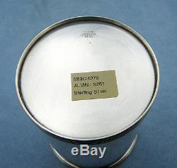 Très Rare Vintage Alvin S251 En Argent Massif Derby Mint Julep Coupe, No Mono