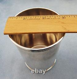 Très Rare Vintage Alvin S251 Sterling Silver Mint Julep Cup, Avecmono