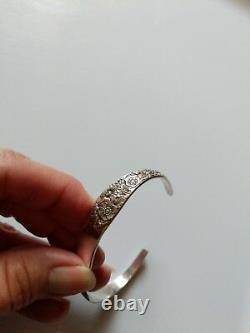Vintage 1932 Alvin Sterling Argent Bracelet De Manchette De Bouquet De Mariée, Pas De Mono