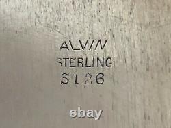 Vintage Alvin Chateau Rose Sterling S126 Ovale Plateau Pain Plat Floral Servir