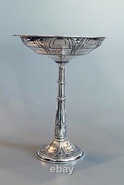Vintage Alvin Gift Line Sterling Silver 7 1/2 Plat Compote De Piédistal