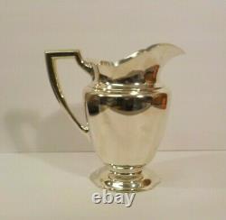 Vintage Alvin Sterling Argent 9 Pitcher D'eau, 1046 Grammes, Pas De Monogrammes