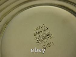 Vintage Alvin Sterling Argent & Verre Compote Avec Rim Ruffled, 6 T X 7 1/2 D